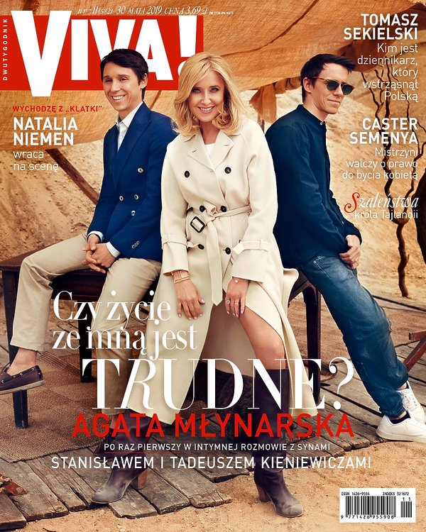 Agata Młynarska z synami, VIVA! nr 11, OKŁADKA, maj 2019 Agata Młynarska z synami, VIVA! nr 11, OKŁADKA, maj 2019, lekka
