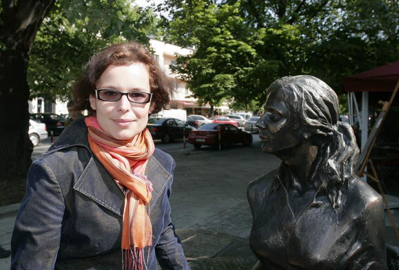 Agata Passent, rzeźba Agnieszki Osieckiej
