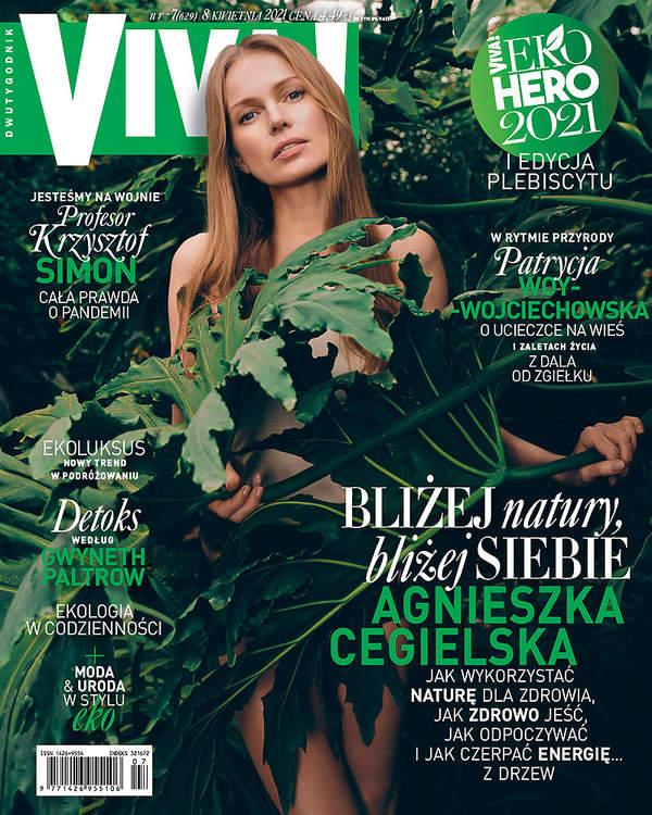 Agnieszka Cegielska, Viva kwiecień 2021, Agnieszka Cegielska, Viva, 7/2021 okładka