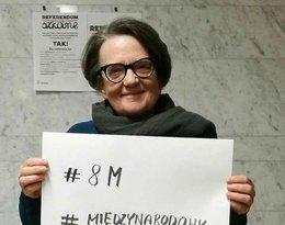 Agnieszka Holland protest 8 marca