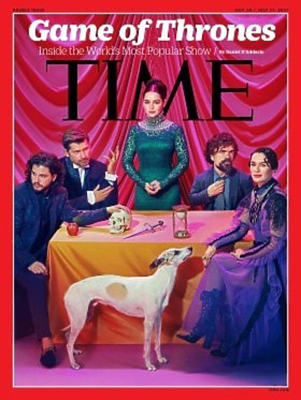 Aktorzy Gry o tron na okładce Time, Gra o tron