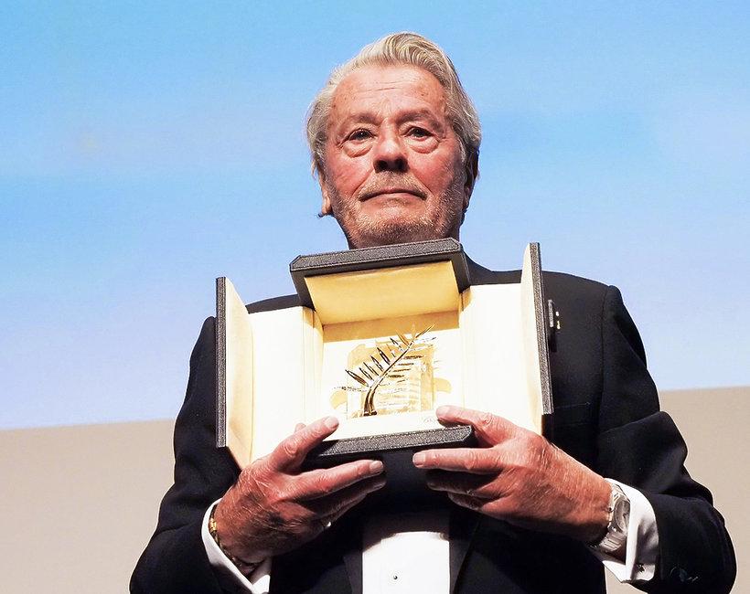Alain Delon odebrał honorową Złotą Palmę w Cannes