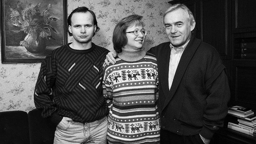Aleksandra Miller z mężem i synem