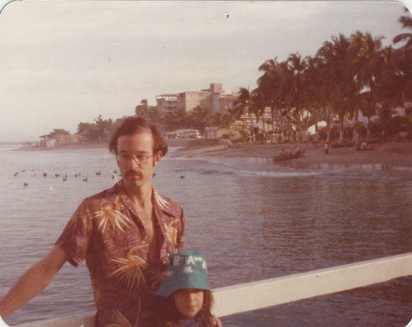 Alysia Abbott i jej ojciec Steve Abbott, 1977