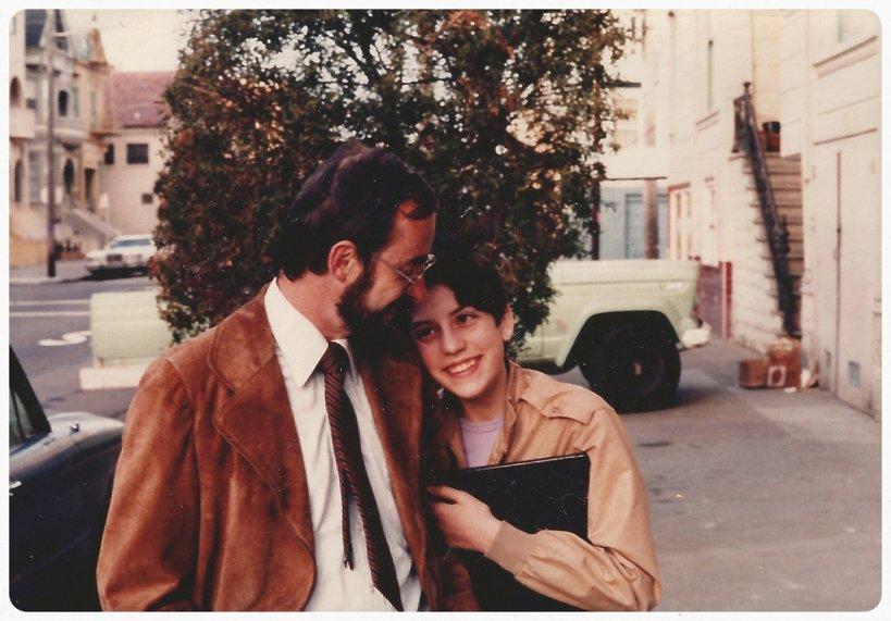 Alysia Abbott i jej ojciec Steve Abbott, 1983
