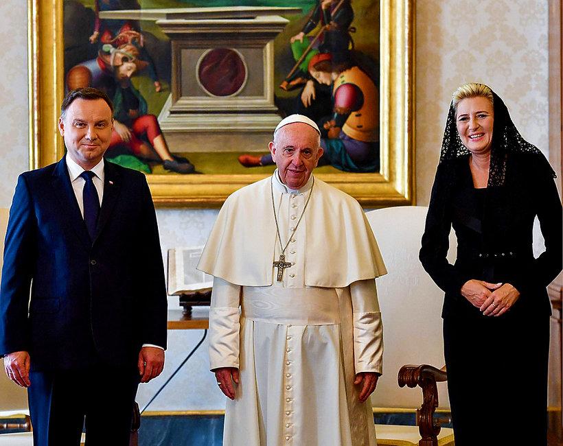 Andrzej Duda, Agata Duda, papież Franciszek