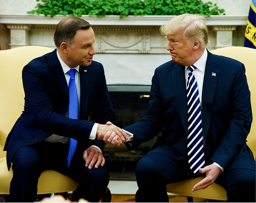 Andrzej Duda, Donald Trump, jamnik
