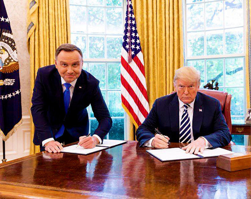 Andrzej Duda, Donald Trump, jamnik słaba jakość