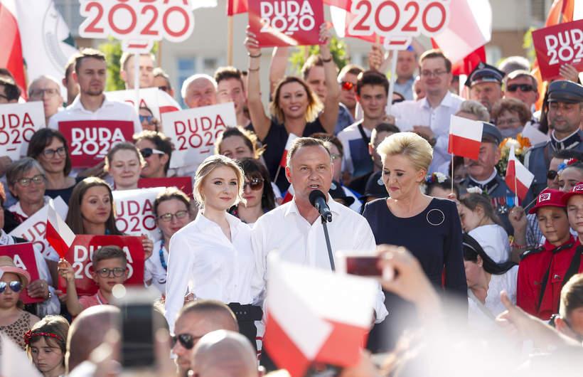 Andrzej Duda, Kinga Duda, Agata Duda, 2020