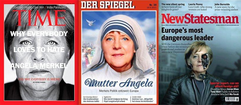 Angela Merkel na okładkach magazynów