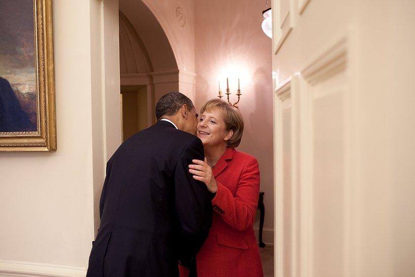 Angela Merkel z Barackiem Obama w Białym Domu, czerwiec 2009