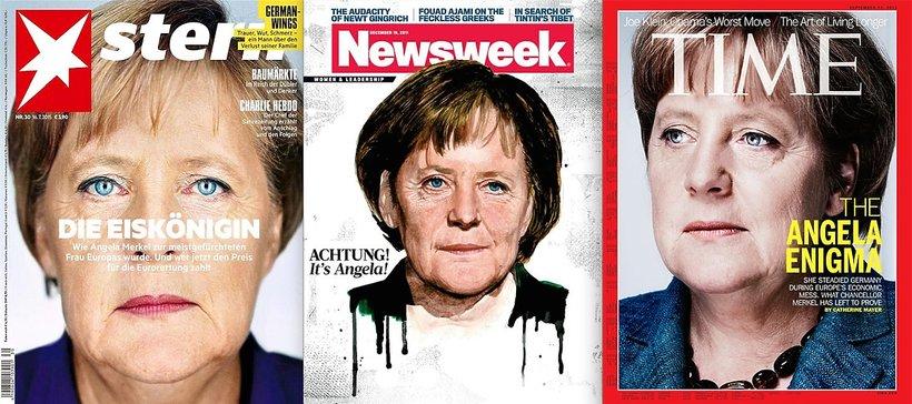 Angela na okładkach Sterna, Newsweeka, Time'a