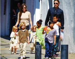 Angelina Jolie i Brad Pitt z dziećmi