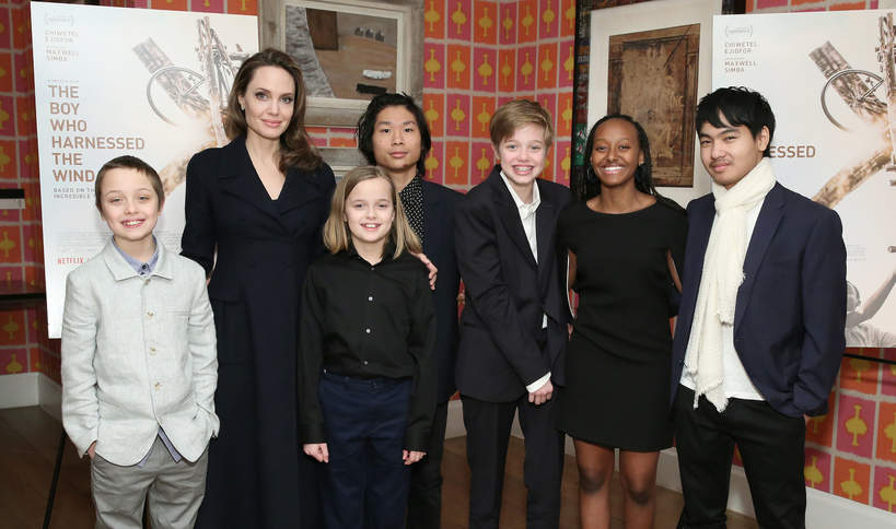 Angelina Jolie, Knox, Vivienne, Pax, Shiloh, Zahara, Maddox, 2019 rok, dzieci Angeliny Jolie i Brada Pitta