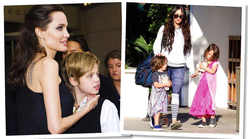 Angelina Jolie, Megan Fox z dziećmi