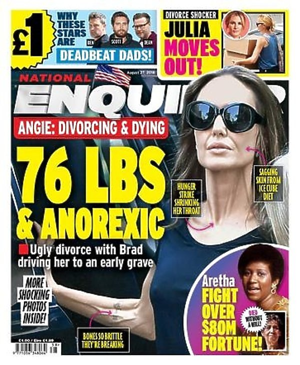 Angelina Jolie na okładce National Enquirer