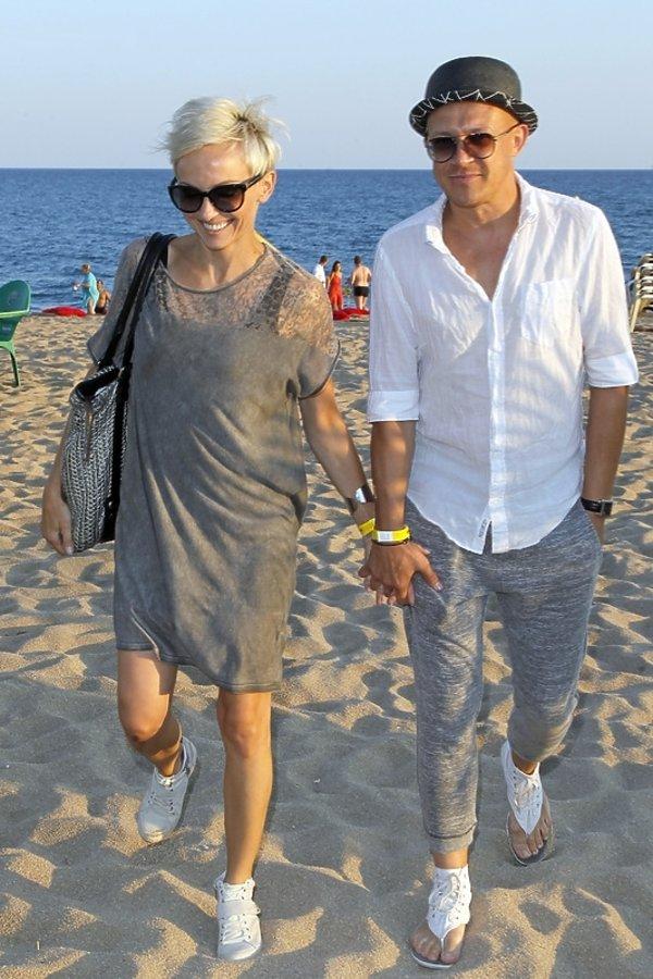 Ania Wyszkoni i Maciej Durczak na finale Przeboju Lata RMF FM na Costa Brava
