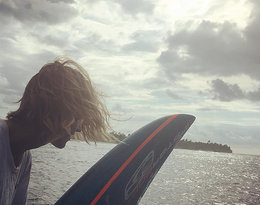 Anja Rubik na wakacjach Malediwy
