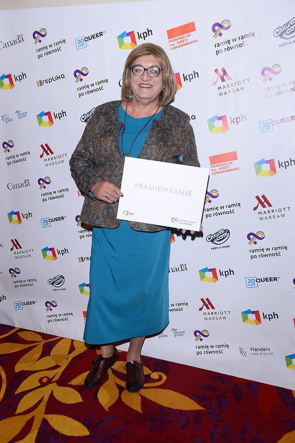 Anna Grodzka na gali LGBT
