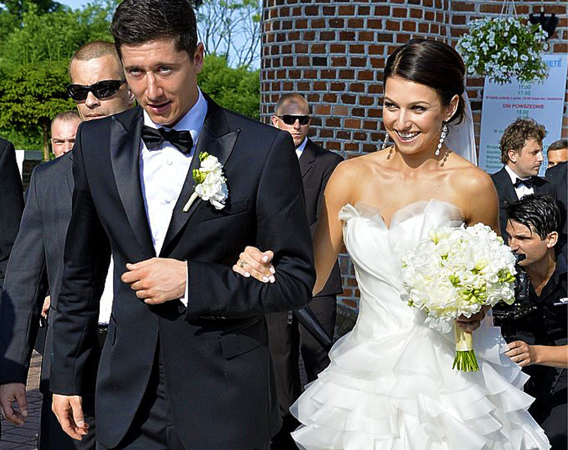Anna i Robert Lewandowscy, ślub