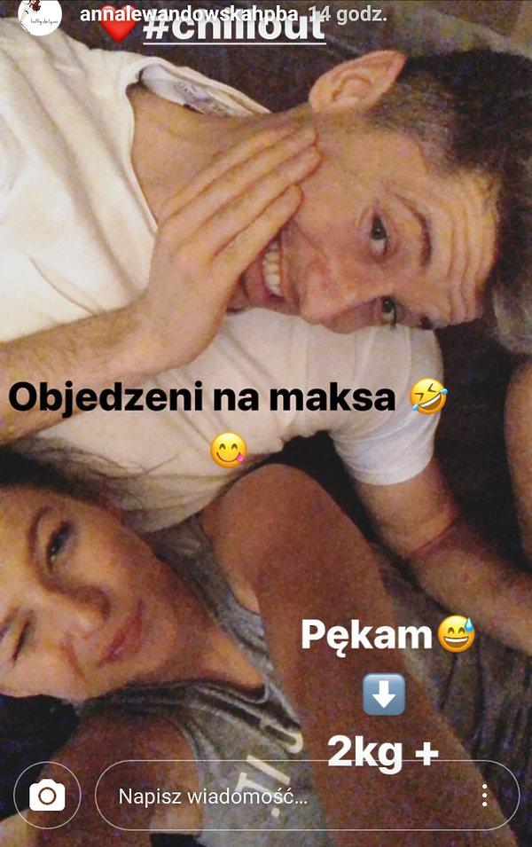 Anna Lewandowska i Robert Lewandowski po Świętach