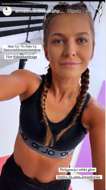 Anna Lewandowska nowa fryzura warkoczyki 2021