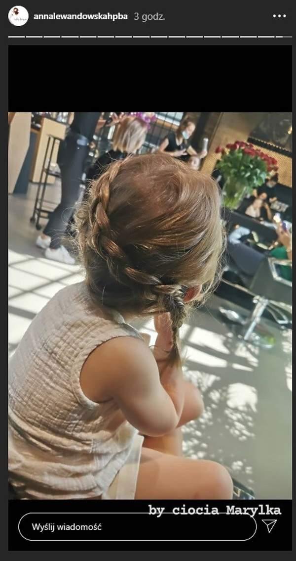 Anna Lewandowska poszła z corkami do fryzjera 2020