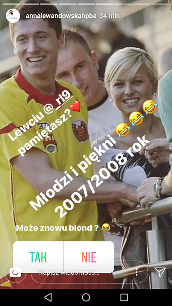 Anna Lewandowska w blondzie
