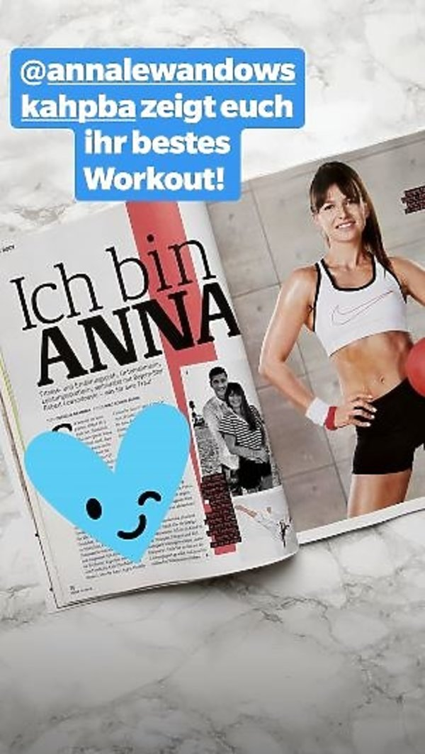 Anna Lewandowska w niemieckim magazynie