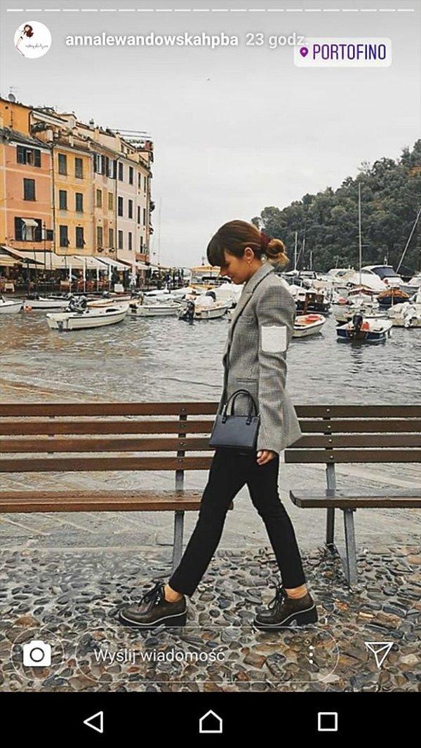 Anna Lewandowska w Portofino