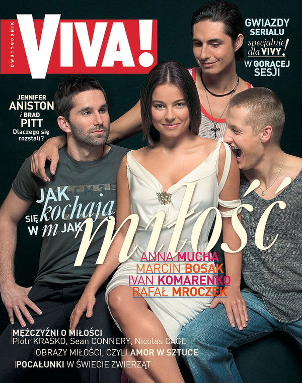 Anna Mucha, Marcin Bosak, Rafał Mroczek, Ivan Komarenko, VIVA! luty 2005