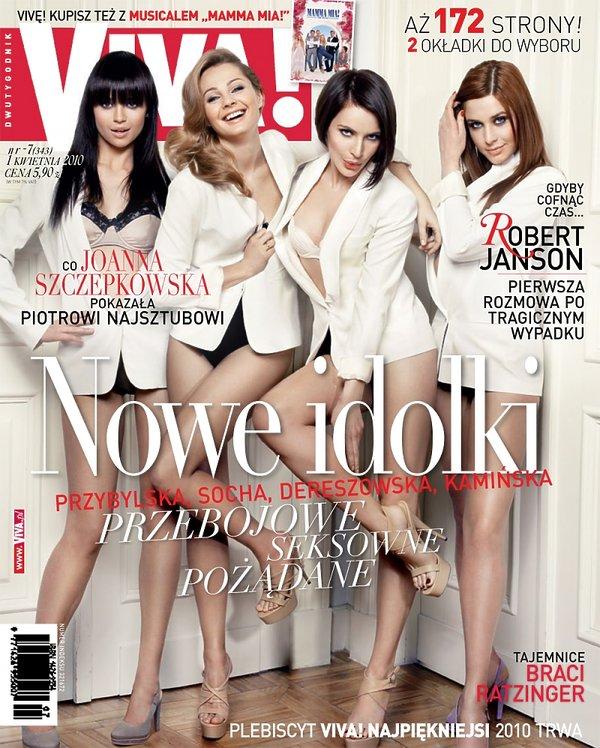 """Anna Przybylska, Małgorzata Socha, Anna Dereszowska i Julia Kamińska, """"Viva!"""" kwiecień 2010"""