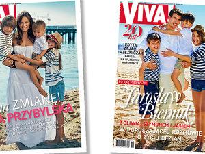 Anna Przybylska z dziećmi, Viva! sierpień 2012, Jarosław Bieniuk z dziećmi, Viva! maj 2017