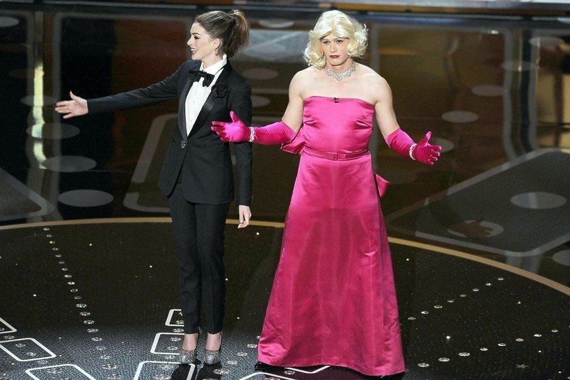 Anne Hathaway i James Franco  na Oscarach w 2011