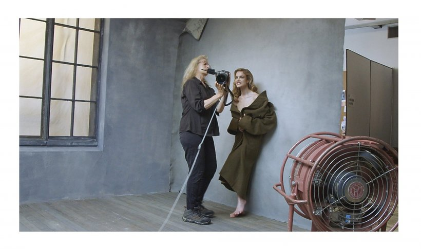 Annie Leibovitz z Natalią Vodianovą