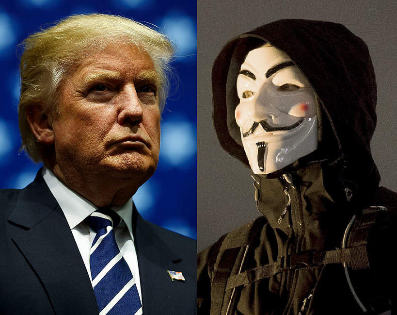 Anonymous, Donald Trump