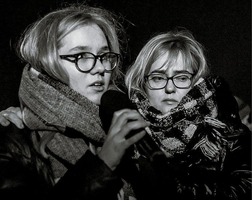 Antonina i Magdalena Adamowicz, żona i córka Pawła Adamowicza