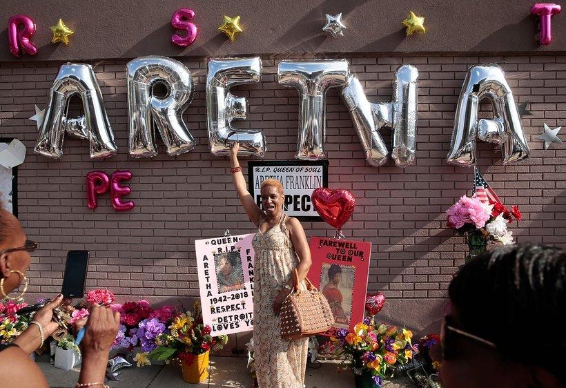 Aretha Franklin pożegnanie w muzeum