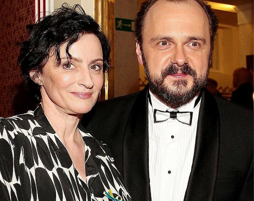 Arkadiusz Jakubik z żoną
