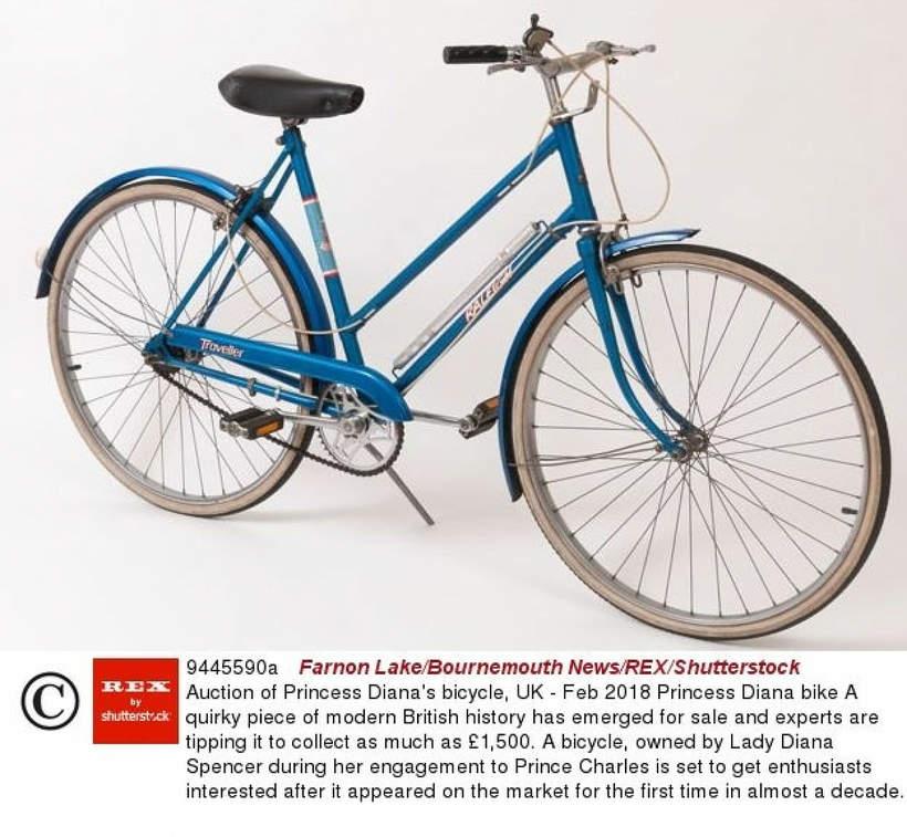 Aukcje księżnej Diany rower na licytacji