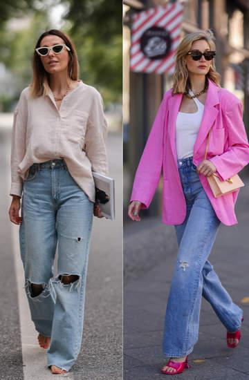 Baggy jeans, stylówki