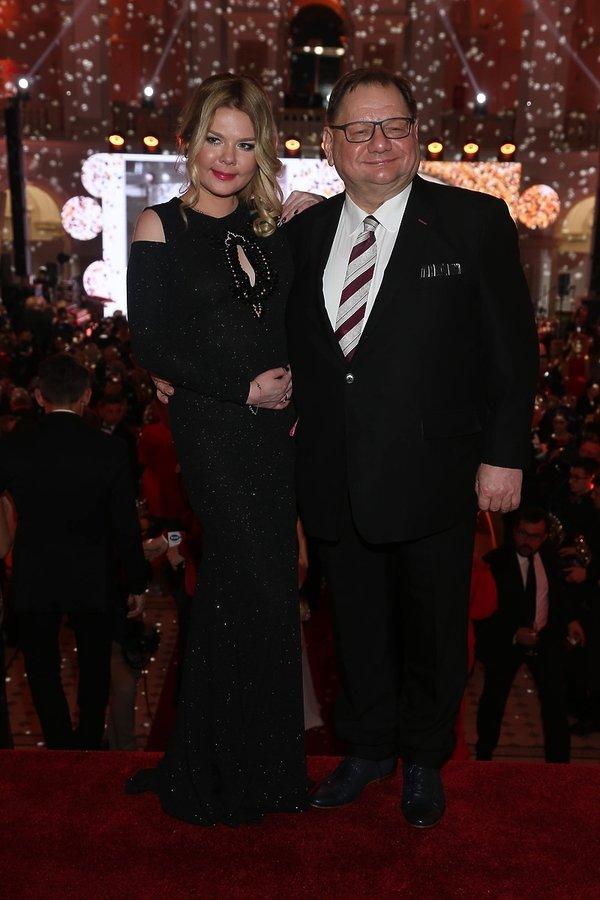 Bal Dziennikarzy: Ryszard Kalisz z żoną
