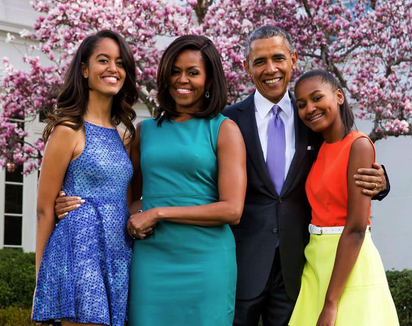 Barack Obama, córki, żona