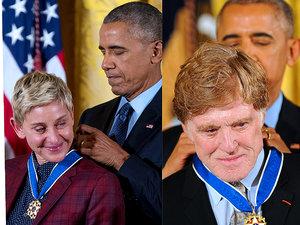 Barack Obama wręcza Medale Wolności