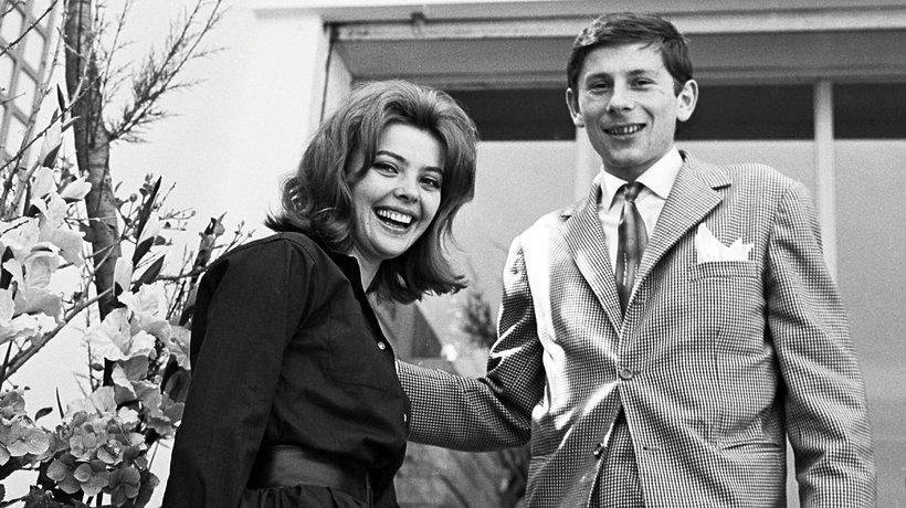 Barbara Kwiatkowska i Roman Polański