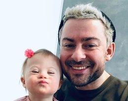 Bartek Królik z córką Jagodą