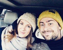 Bartek Królik z żoną