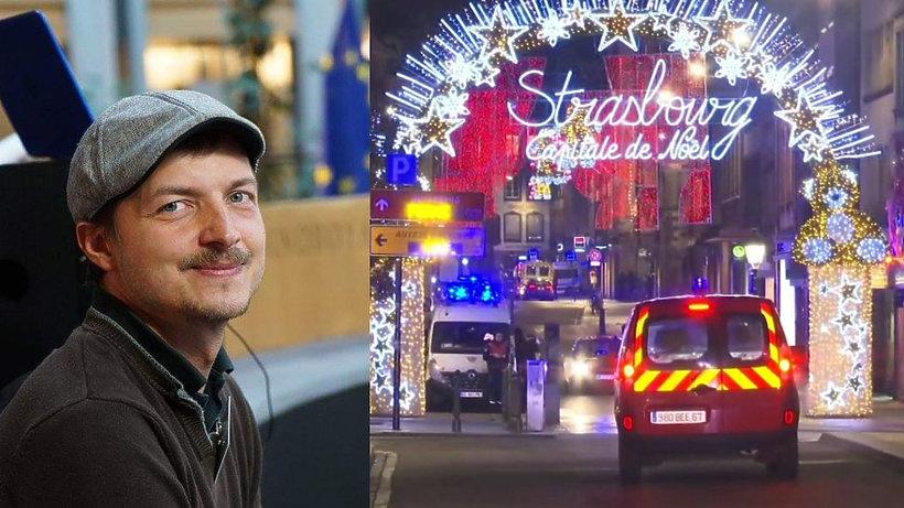 Bartosz Niedzielski, zamach na jarmarku w Strasburgu