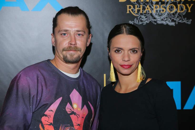 Bartosz Obuchowicz z żoną, Katarzyną