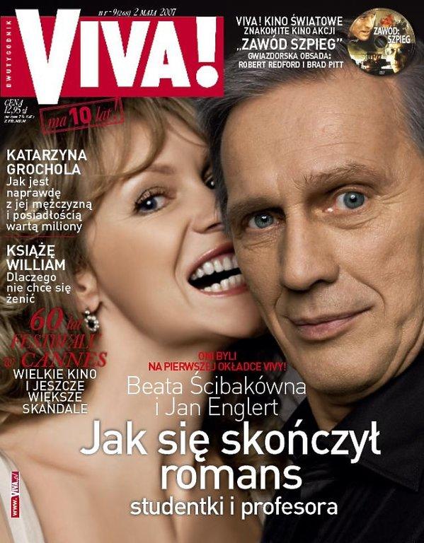 Beata Ścibakówna i Jan Englert na okładce magazynu Viva!